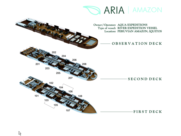 Cabin layout for Aria Amazon