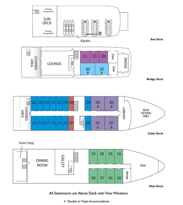 Cabin layout for