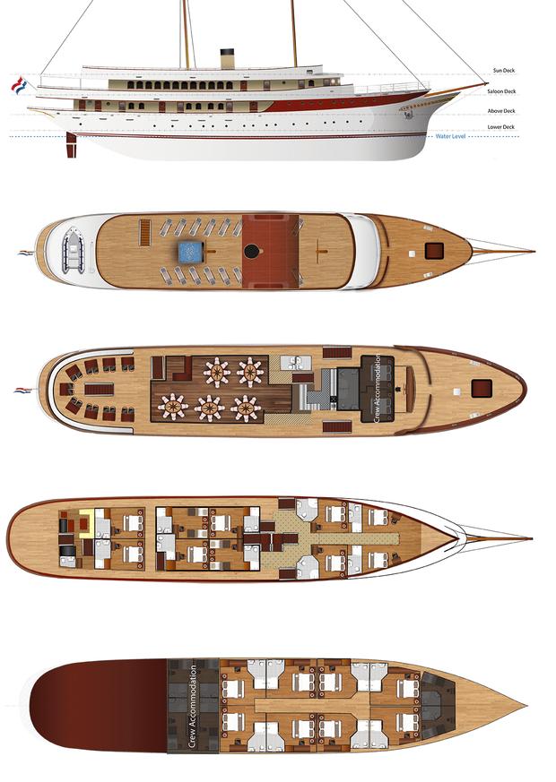 Queen Jelena - ship | The Small Cruise Ship Collection