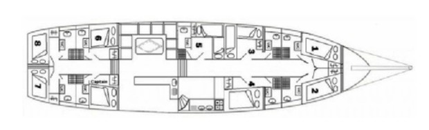 Cabin layout for Sadri Usta