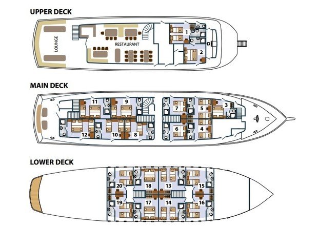 Cabin layout for MS Paradis