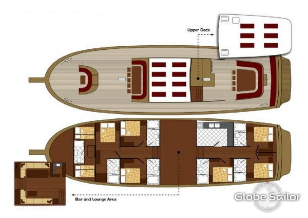 Cabin layout for Tersane IV