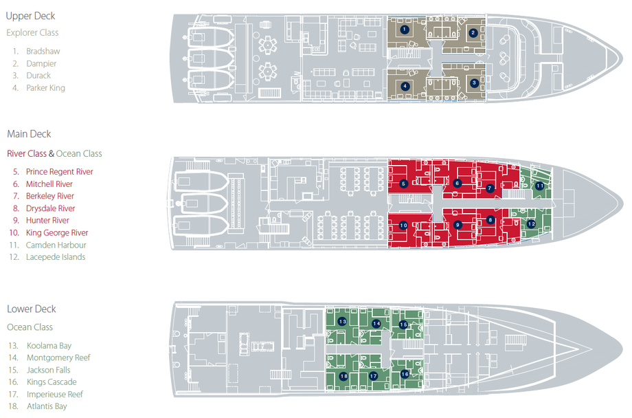 Cabin layout for True North
