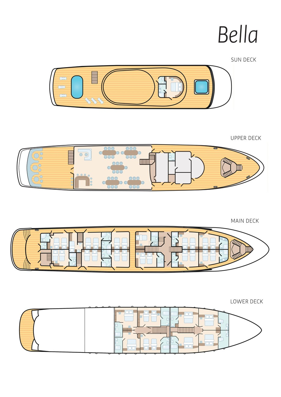 Cabin layout for Bella
