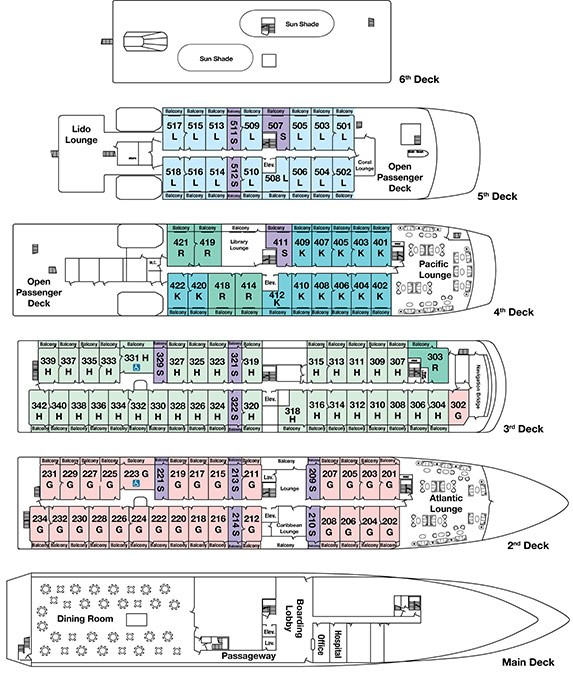 Cabin layout for Pearl Mist
