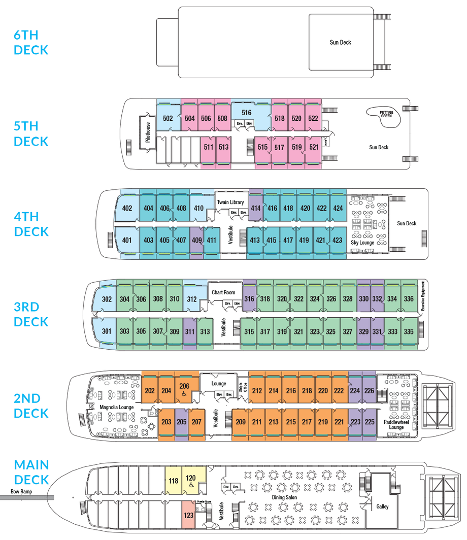 Cabin layout for America