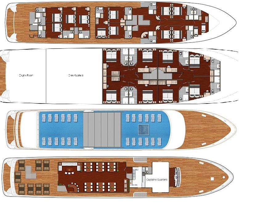 Cabin layout for Olimp/Esperanza/Queen Jelena/Alfa Mario