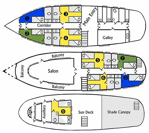 Cabin layout for Tucano