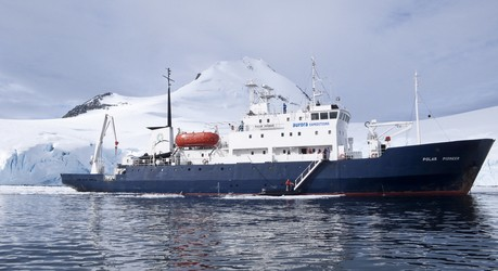 Polar Pioneer, the ship servicing Jewels Of The Arctic