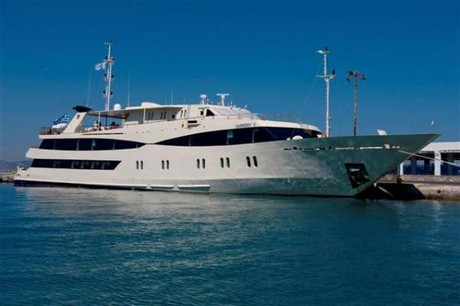 Harmony V, the ship servicing The Islands of The Cape Verde Archipelago