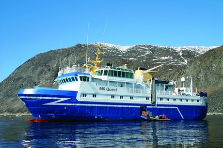 Quest, the ship servicing Expedition Svalbard