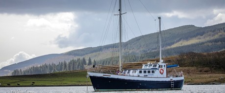 St Hilda, the ship servicing Scottish Castles and Sea Lochs Cruise (St Hilda)