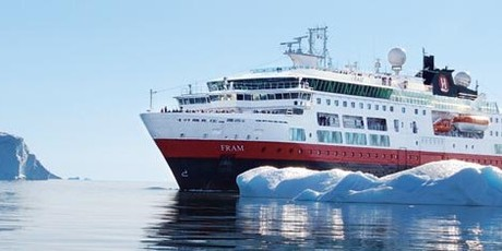 MS Fram, the ship servicing Thule and Disko Bay