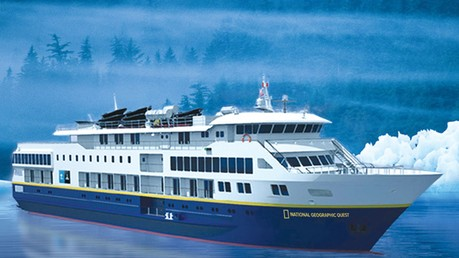 National Geographic Venture, the ship servicing Treasures of the Inside Passage (NG Venture)