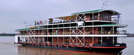 Indochina Pandaw, the ship servicing The Mighty Brahmaputra River (Downstream)