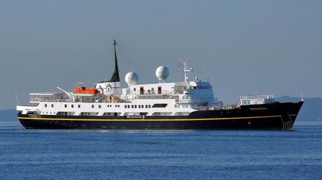 Serenissima, the ship servicing Midsummer in Norway & the Scottish Isles 2019