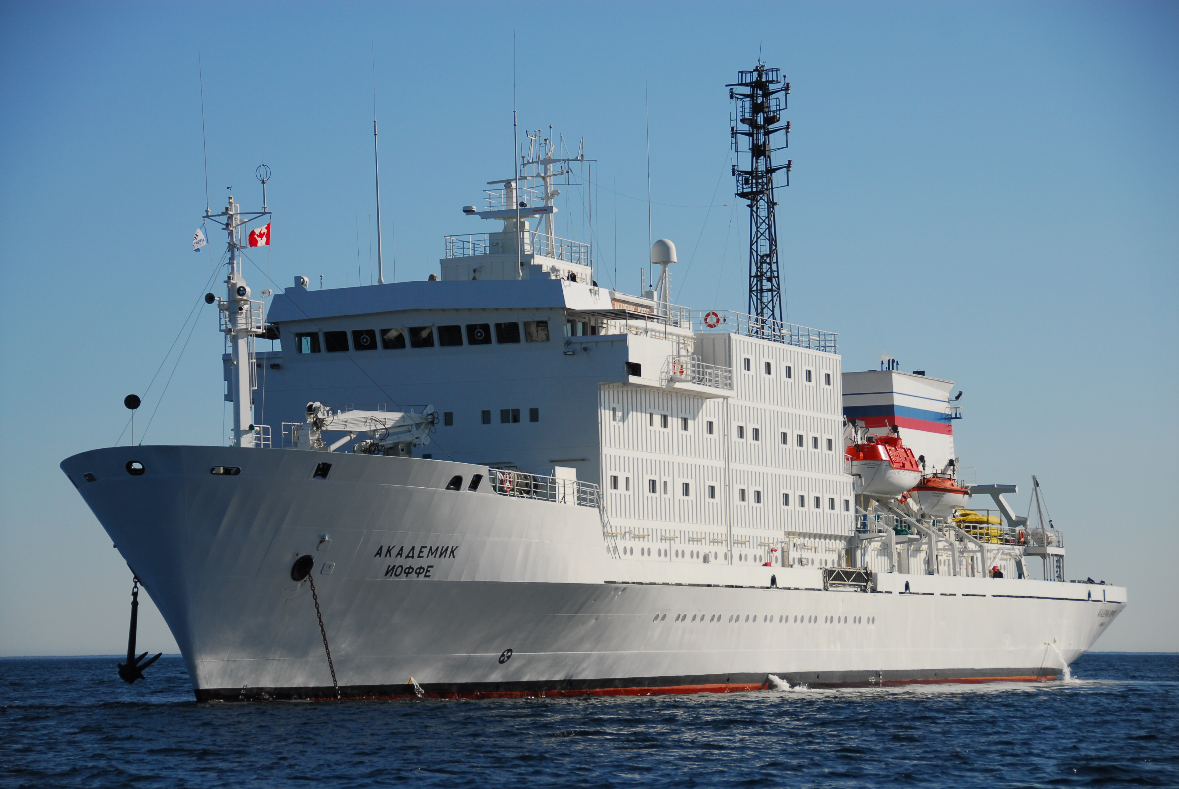 Akademik Ioffe, the ship servicing Quest for the Antarctic Circle (Akademik Ioffe)