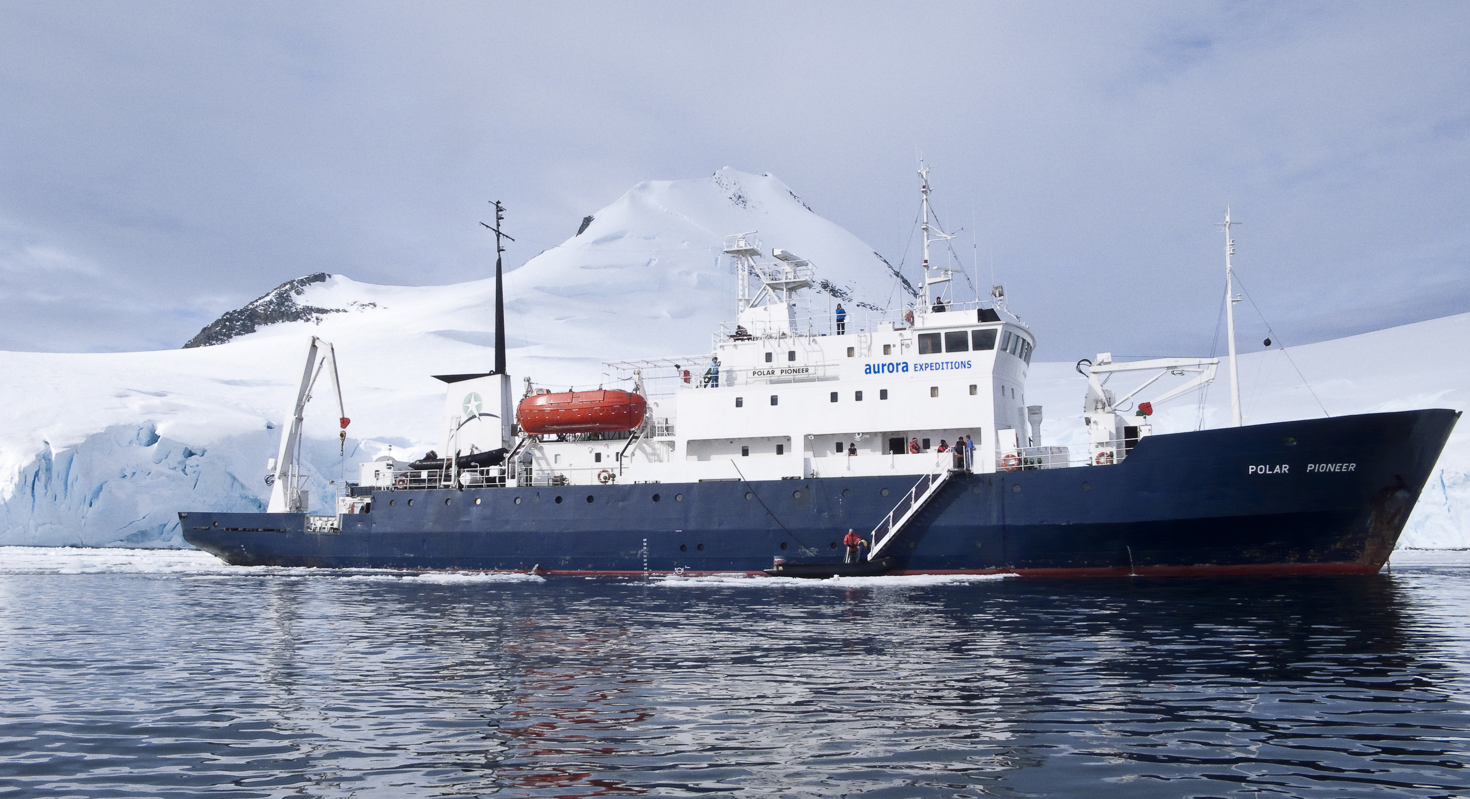 Polar Pioneer, the ship servicing Across The Antarctic Circle