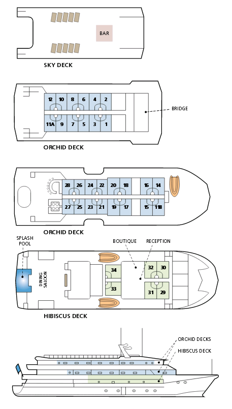 Cabin layout for Fiji Princess