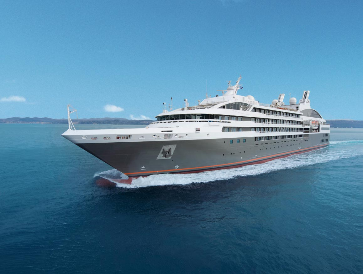 L'Austral, the ship servicing From Vietnam to Myanmar