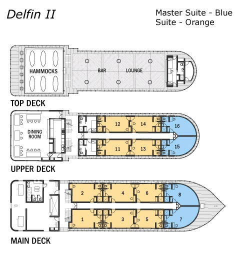 Cabin layout for Delfin II