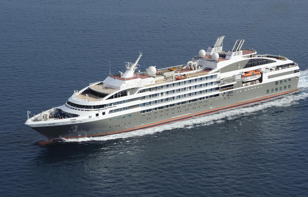 Le Boreal, the ship servicing Treasures of the Caribbean Sea