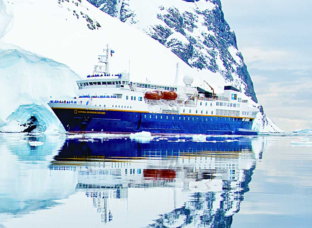 National Geographic Explorer, the ship servicing Antarctica & South Georgia Cruise (NG Explorer)
