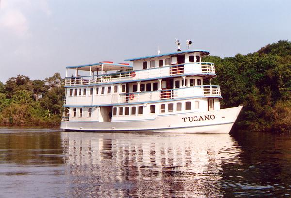 Tucano, the ship servicing Voyage to the Heart of the Amazon