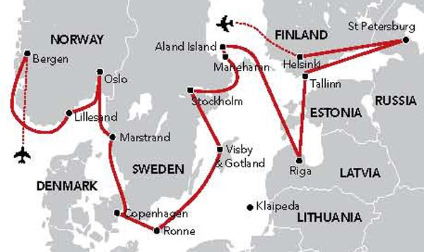 Map for Scandinavian & Baltic Odyssey