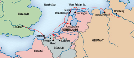 Exploring the low countries holland and belgium map for exploring the low countries holland and belgium gumiabroncs Image collections