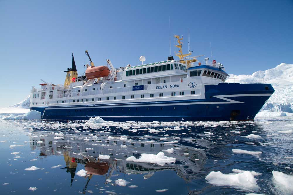 Ocean Nova, the ship servicing Arctic Express: Greenland's North Lights