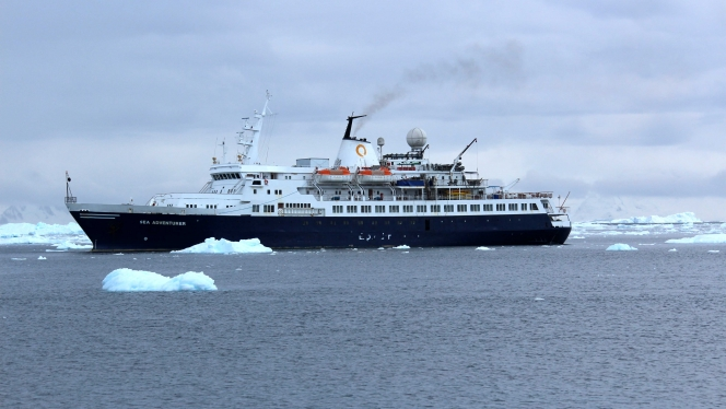 Sea Adventurer, the ship servicing Three Arctic Islands