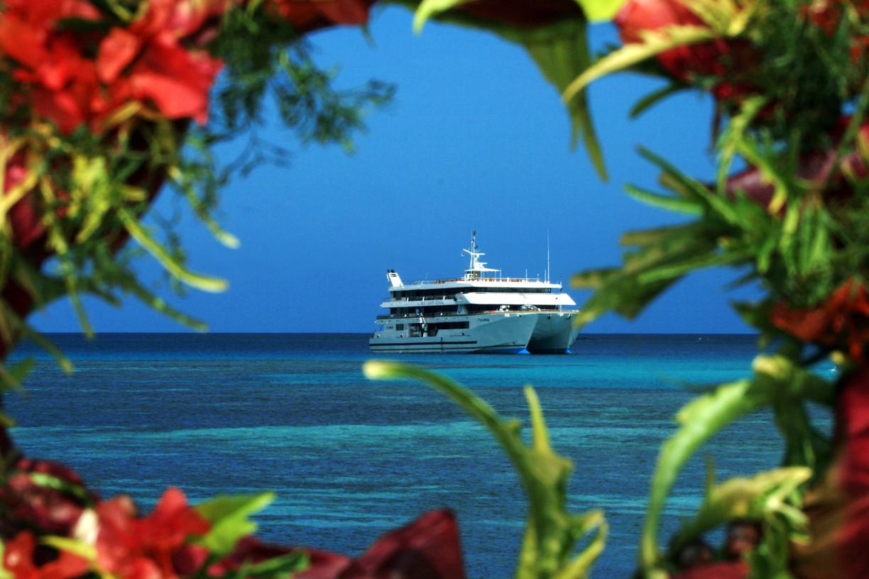 Fiji Princess, the ship servicing Explorer Cruise