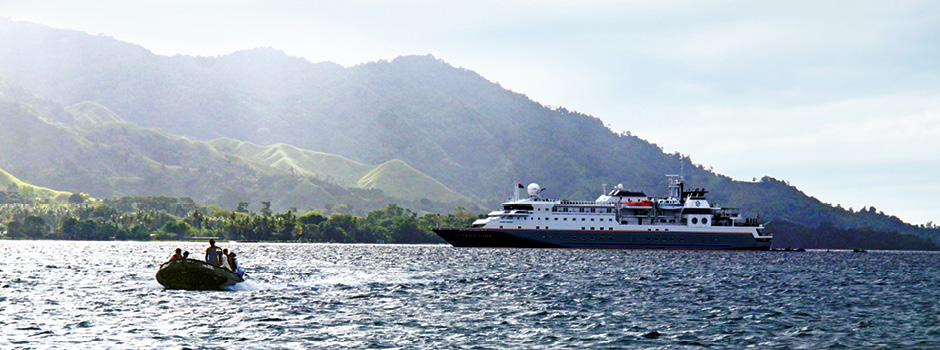 Silver Discoverer, the ship servicing Mysteries of New Guinea
