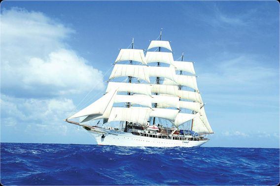 Sea Cloud, the ship servicing Natural Treasures of the Adriatic Sea