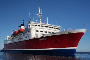 MS Expedition , the ship servicing Falklands, South Georgia and Antarctic Islands