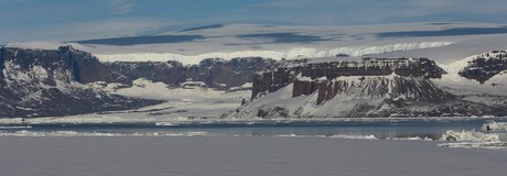 James Ross Island in the Weddell Sea. Ponant Antarctic cruise with The Small Cruise Ship Collection