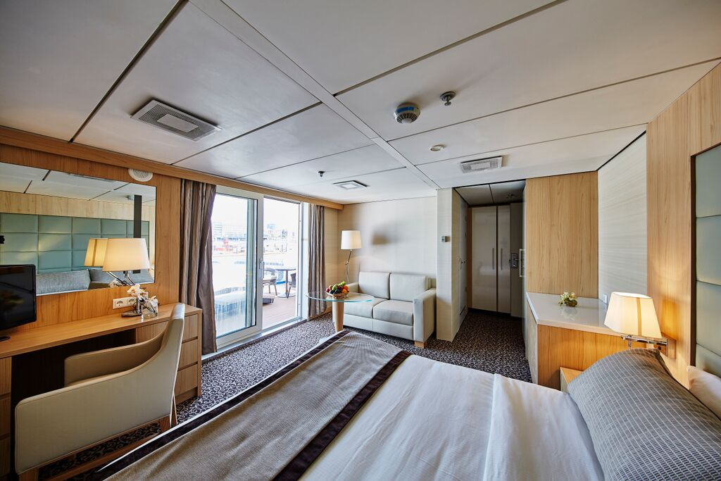 Ocean Diamond balcony suite | The Small Cruise Ship Collection