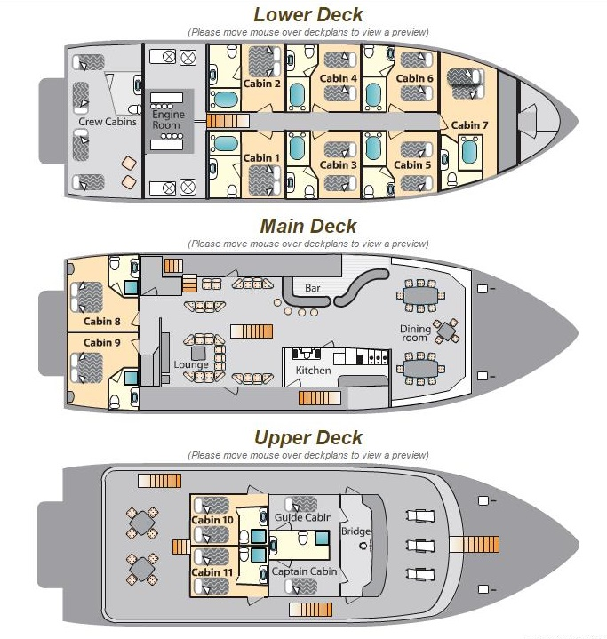 Cabin layout for Galaven