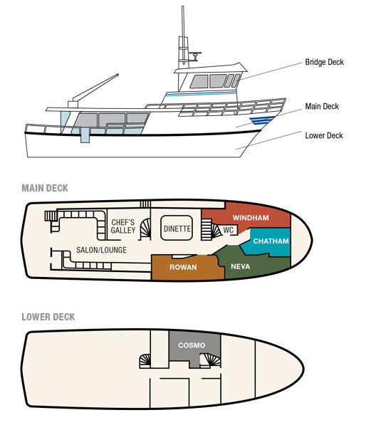 Cabin layout for Misty Fjord