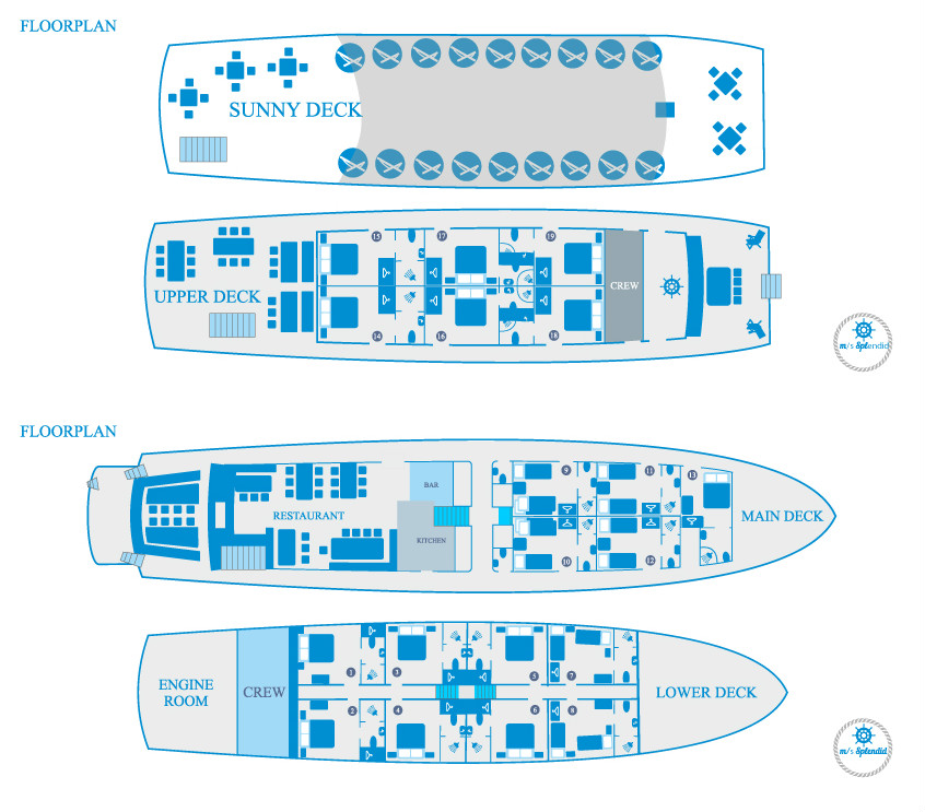 Cabin layout for MS Splendid