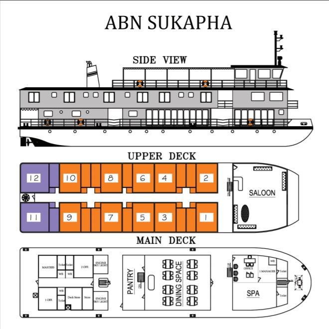 Cabin layout for ABN Sukapha