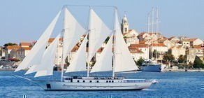 Klara, the ship servicing Venice, The Adriatic, Kotor Bay and Dubrovnik luxury sail cruise