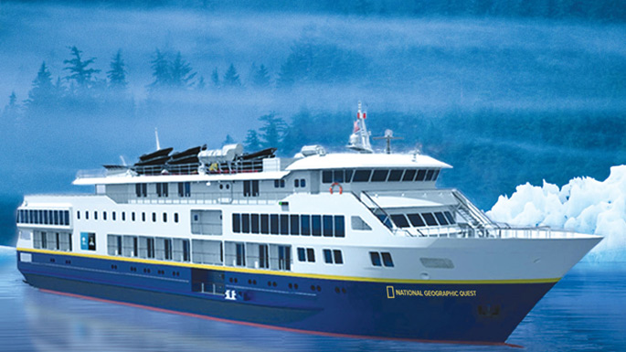 National Geographic Quest , the ship servicing Columbia & Snake Rivers Adventure