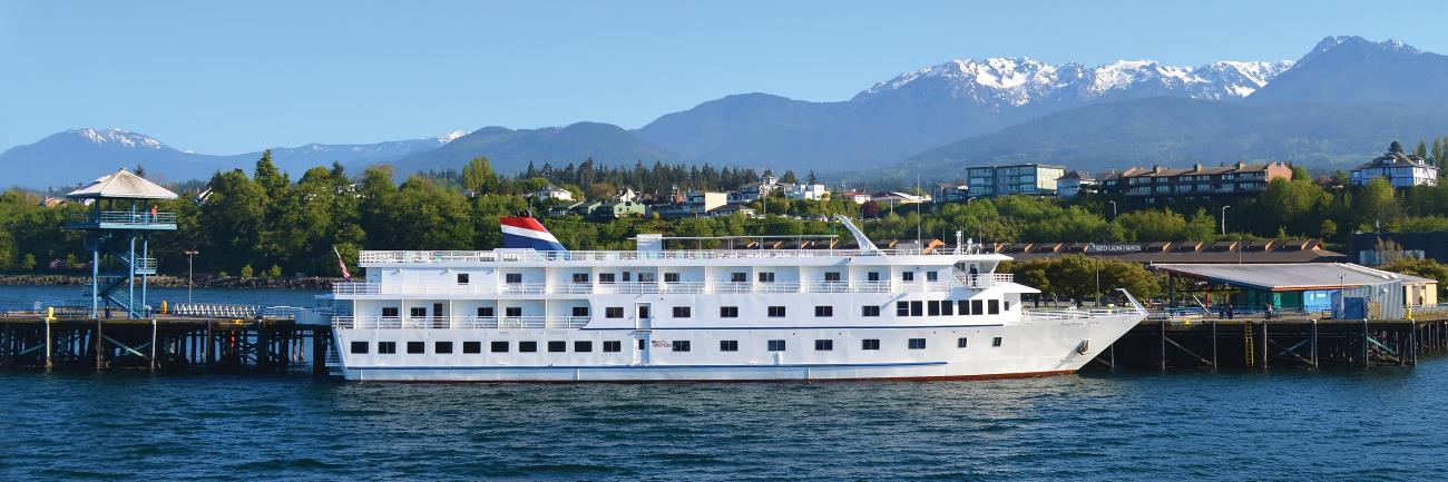 American Spirit, the ship servicing Puget Sound and San Juan Islands Cruise