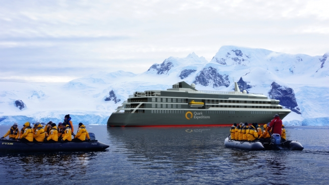 World Explorer, the ship servicing Antarctic Express: Fly the Drake (World Explorer)
