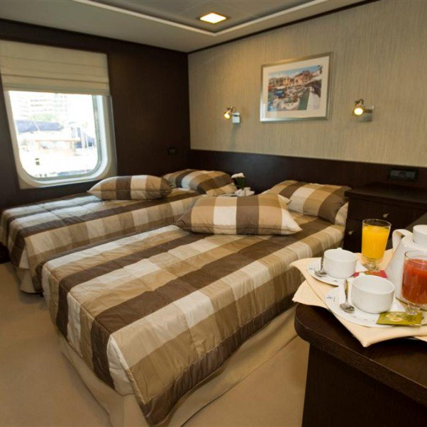 Harmony V Category A cabin | The Small Cruise Ship Collection.