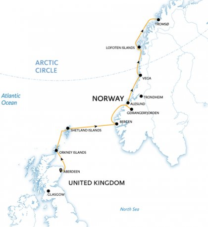 Scotland to Norway Crossing the Arctic Circle